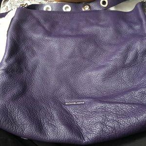 Michael Kors purple leather bag